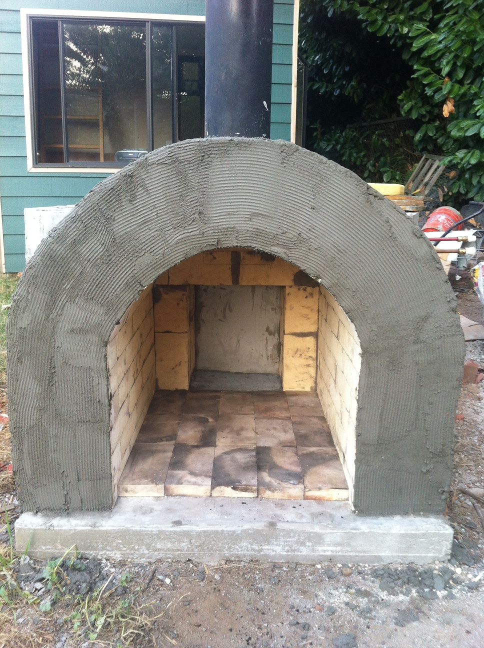 While the bricks dried I started on the stone work. (NOTE: this project  would've never happened without the enthusiasm of my daughter Eva, who was  always ... - Wood Stove Henry's Cabin